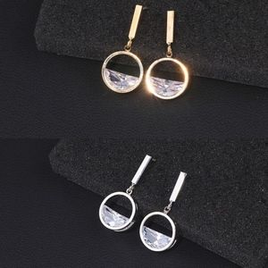 Water Illusion CZ Silver Plated Earring Dangles